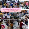 Sevgi Anaokulu öğrencileri meyveli yoğurt yaptı