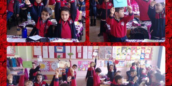 İstanbul'dan Gaziantep' e mektup ve yılbaşı kartı var