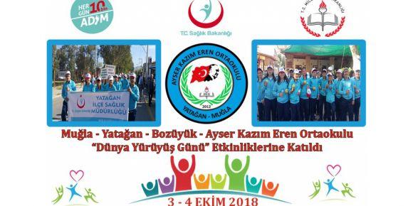 """3-4 Ekim """"Dünya Yürüyüş Günü"""" etkinlikleri Bozüyük'te yapıldı"""