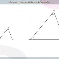 Üçgenlerde Benzerlik Teoremleri - 2