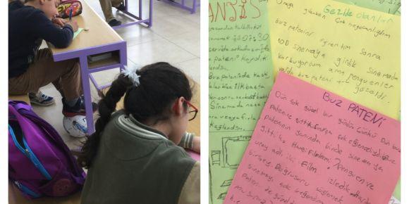 4/A sınıfı öykü yazıyor