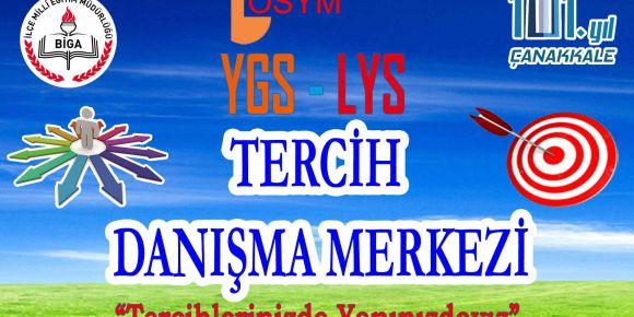 """Çanakkale Biga İlçe Milli Eğitim Müdürlüğü """"Ygs-Lys Tercih Danışmanlığı Bürosu"""" kurdu"""