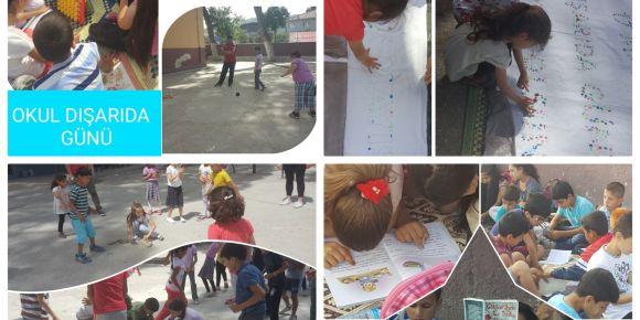 Bağarası Hürriyet İlkokulu da 17 Mayıs Okul Dışarıda Günü'nde dışarıda
