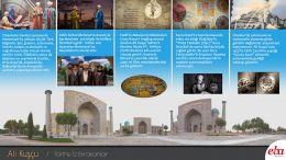 Ali Kuşçu'nun hayatı ve eserleri hakkında bilgi verilen infografik çalışma