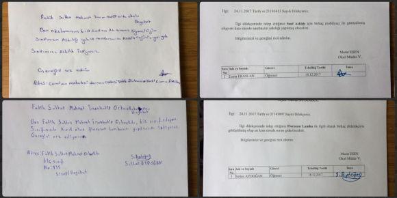 Boyabat Fatih Sultan Mehmet İmam Hatip Ortaokulu öğrencilerinden dilekçe