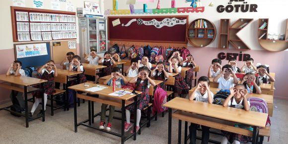 Fahrettin Uyguntüzel İlkokulu 1-A sınıfı Kaplumbağa Adımları projesine katıldı