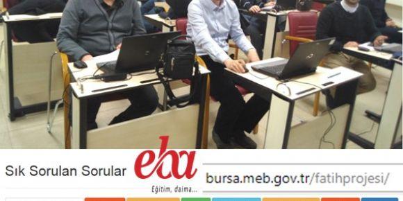 Bursa da fatih projesi  eğitimde teknoloji kullanımı kursu açıldı
