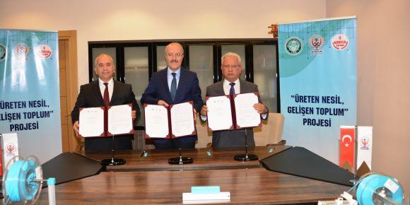 Üreten nesil gelişen toplum projesi protokolü imzalandı