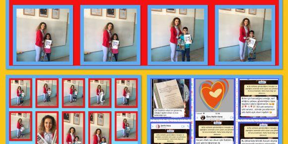 Saray İlkokulu 2/K sınıfında karne heyecanı