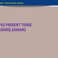 Simple Present Tense ( Geniş Zaman - Olumlu Cümle )