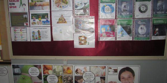 Sağlıklı beslenme okul panosu
