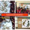 Kurumuş yapraklardan sanat çalışmamız