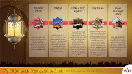 Kültürümüzde Ramazan ve Oruç ile ilgili gelenekleri tanır.