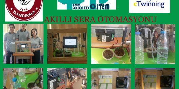 Kemal Pireci Anadolu Lisesi,etwinning Fsts projesiyle akıllı sera otomasyonu geliştirdi