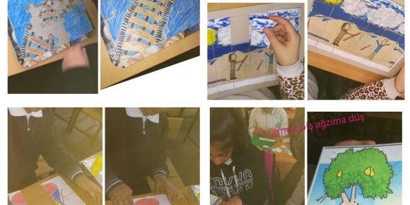 Gelenekselden Dijitale eTwinning projesi yapboz etkinliği