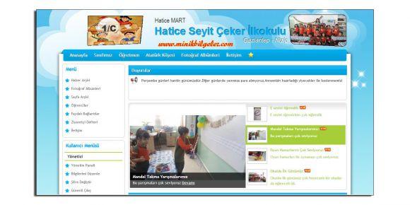 Sınıf sitemiz yayımlandı