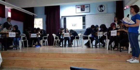 Okulumuz Sınıflar Arası Bilgi Yarışması Büyük Heyecana Sahne Oldu