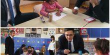 İlçe Kaymakamımız ve İlçe Milli eğitim müdürümüzün Okulumuza Ziyareti