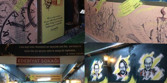 Şehit İSMAİL Kefal MTAL Edebiyat Sokağını Açtı