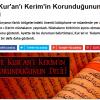 Kuran-ı Kerim hiç değişmeden ilâhî koruma altındadır