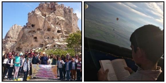 En derundan En Gürün'e Gürün okuyor okudukça yazıyor projesi kapsamında Kapadokya gezisi