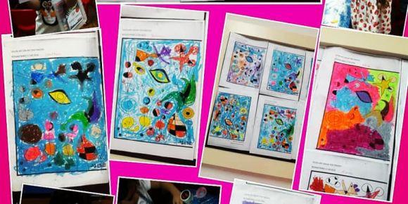 Gazipaşa İlkokulu Ana sınıfında sanat eğitimi çalışmaları