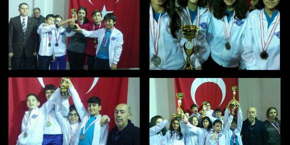 Yarış Ortaokulundan satrançta  3 kupa daha