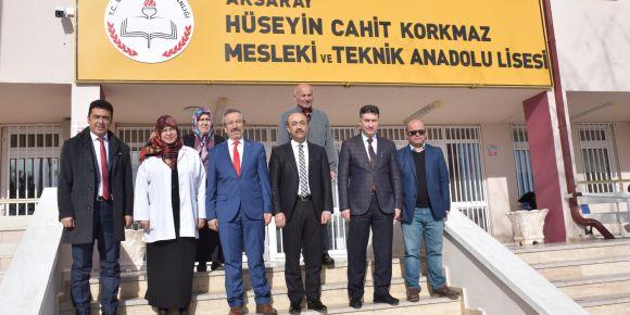 Aksaray İl Milli Eğitim Müdürümüz Ömer Kartal sağlıkçıları ziyaret etti