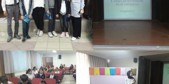 Atatürk Ortaokulu 5. sınıflar arası matematik bilgi yarışması