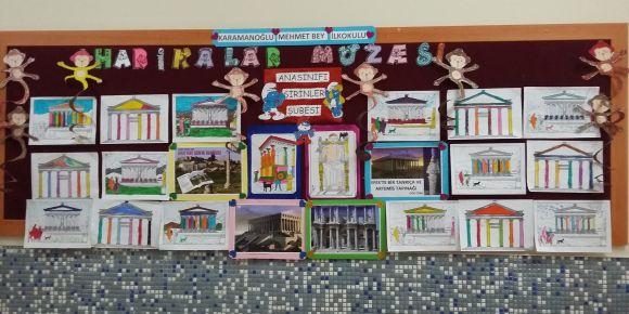 Ana sınıfı B şubesi Harikalar Müzesi projesine katıldı