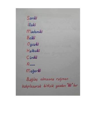 yazım kuralları testi pdf