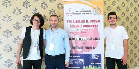Suşehri Fen Lisesi Ankara'da Fen Liseleri II. Ulusal Öğrenci Kongresinde