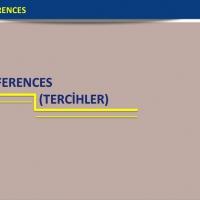 Preferences ( Tercihler )