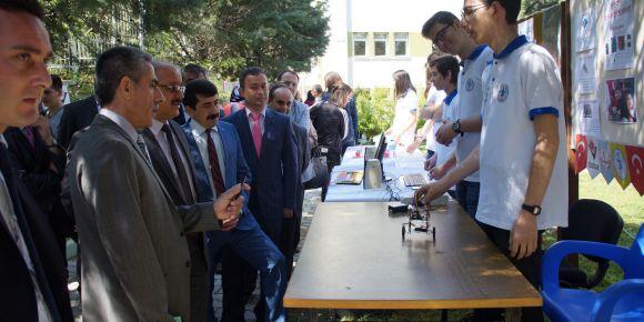 Akşehir Anadolu Lisesi bilim fuarı