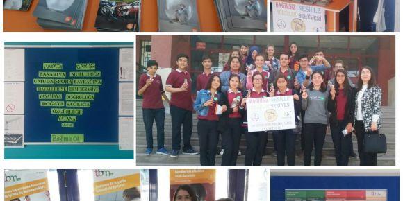 Çay Gevher Nesibe Mesleki ve Teknik Anadolu Lisesi bağımlılıkla mücadele standı