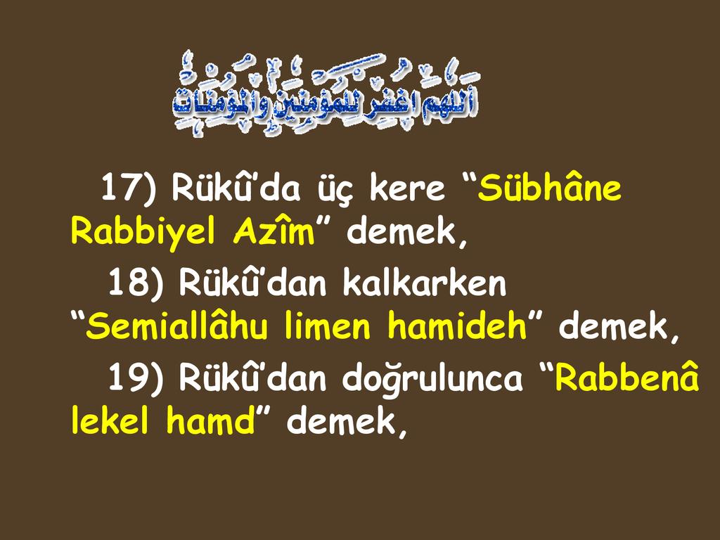 Rabbena Lekel Hamd Ne Demek