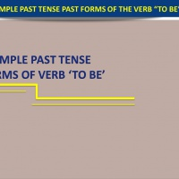 The Simple Past Tense (Past Forms of Verb ' to be ')
