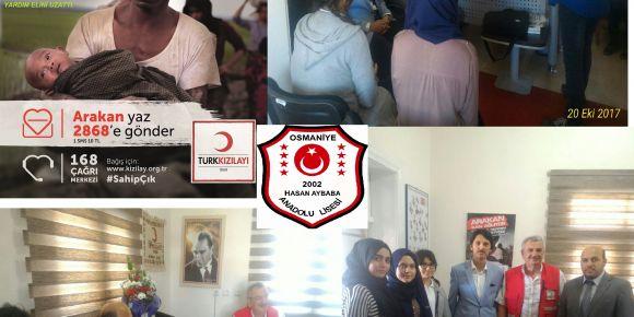 Arakan kan ağlıyor Hasan Aybaba Anadolu Lisesi yardım elini uzattı
