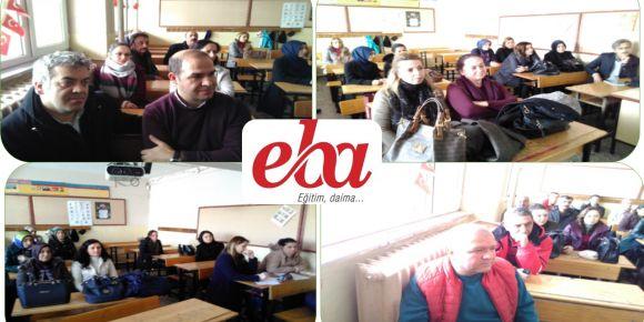 Yıldırım İlkokulu'da   yeni EBA tanıtım semineri yapıldı