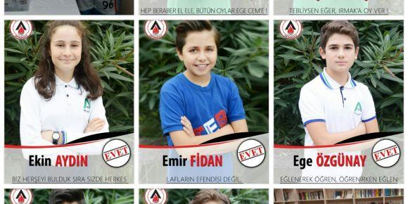 TEB Ataşehir Ortaokulu'nda seçim heyecani