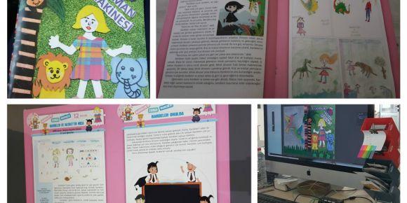 Resimden hikayeye projemizin kitabı basıldı