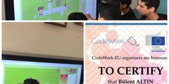 İzmir-Çiğli Tuğba Özbek Anadolu Lisesi Code Week Etkinliği