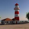 3D Deniz Feneri ve Sahil