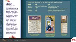 Divan edebiyatındaki nesir türlerinden biri olan Siyer ile ilgili hazırlanan doküman