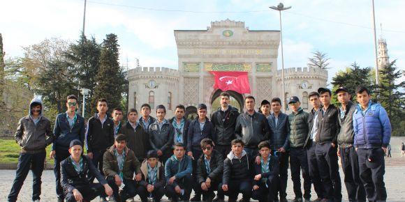 Hakkari TİF-MEB TOKİ Anadolu Lisesi izcileri İstanbul'da
