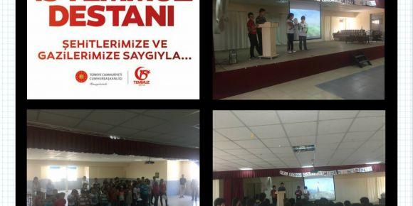 Okulumuzda 15 Temmuz Demokrasi Zaferi ve Şehitleri anma etkinlikleri yapıldı